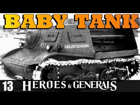 Heroes and Generals - T-20 Komsomolets Baby Tank!