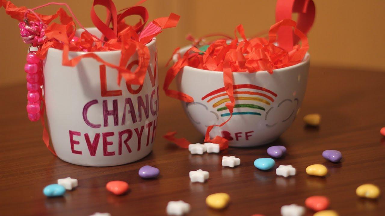 Taza con dulces personalizada con marcadores youtube - Decorar regalos de navidad ...