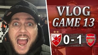 RED STAR 0 v 1 ARSENAL - IT WAS NOT PRETTY BUT WE WON - MATCHDAY VLOG