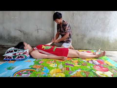 Khmer Traditional Massage To relieving Foot Leg Arm and Body Stress Part 4