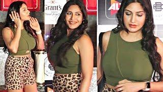 Surbhi Chandna Looking H0T In Shorts At Punch Beat Web Series Screening