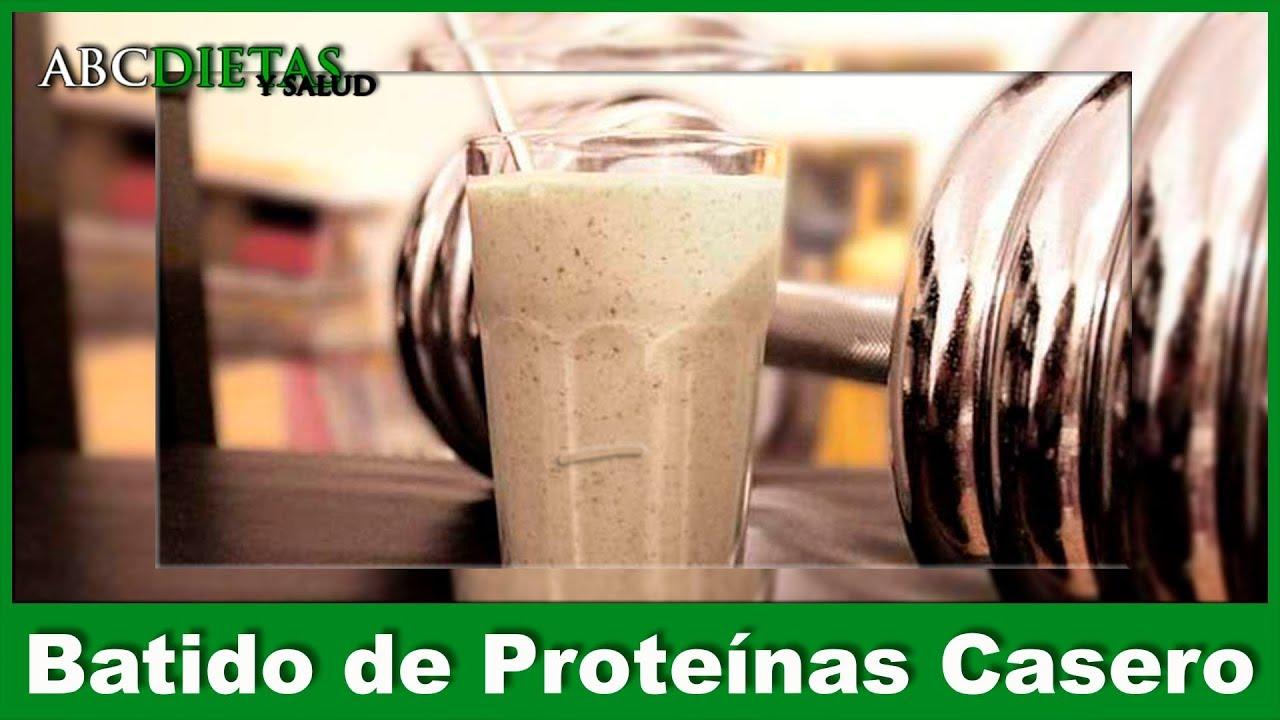 Batido casero de proteinas para adelgazar