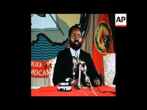 SYND 29 3 76 PRESIDENT SAMORA MACHEL OF MOZAMBIQUE SPEAKING IN LOURENCO MARQUES (MAPUTO)