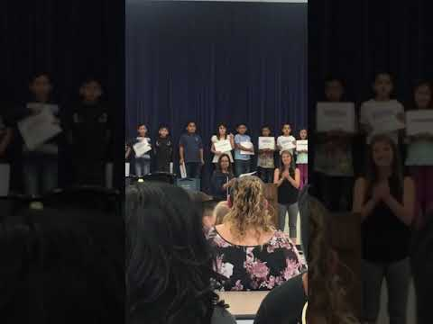 Assembly award - Rio Hondo Elementary School 2018