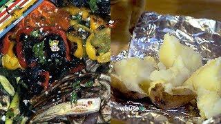 154 - Patate sotto la cenere e verdure alla griglia..e mi scolo 'na bottiglia! (contorno buonissimo)