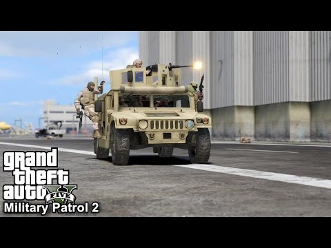 GTA 5 Military Patrol #2 | Counter Assault Team Takes Out MerryWeather Army At Police Station