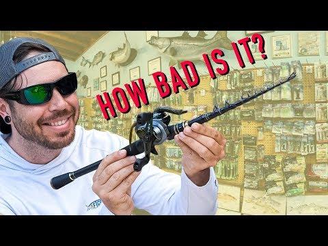 Super Weird Telescopic Fishing Rod Review | Kastking Blackhawk II
