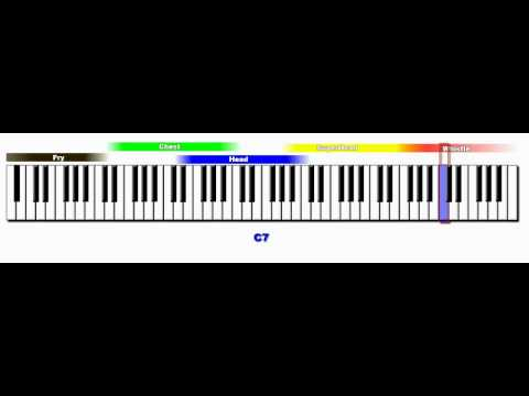 My Vocal Range Across The Entire Piano (7.3 octaves)
