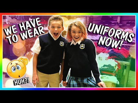 WE HAVE TO WEAR UNIFORMS NOW! | We Are The Davises