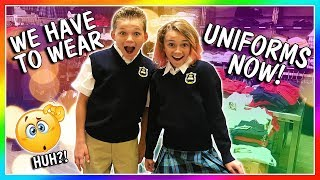 WE HAVE TO WEAR UNIFORMS NOW!   We Are The Davises