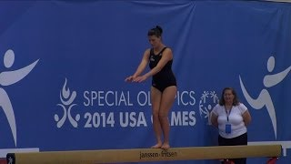 Athletes Show Talents in Special Olympics Gymnastics Competition