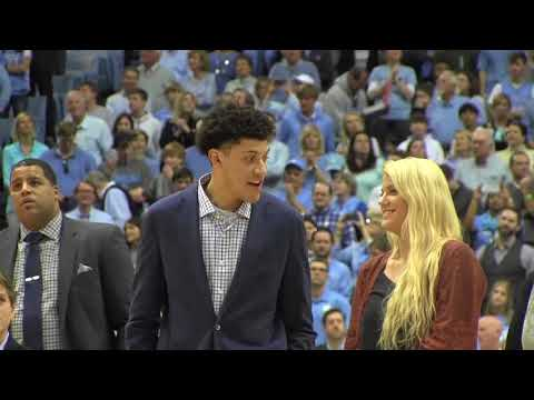 Justin Jackson Jersey Retirement Ceremony