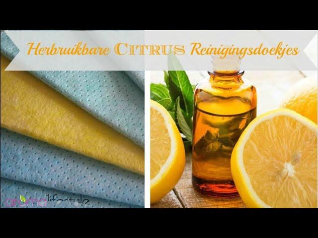 citrus reinigingsdoekjes, herbruikbaar, snel en makkelijk te maken