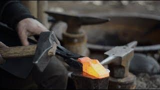 Making 2 viking hammers for blacksmithing - cross peen