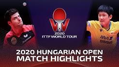 Tomokazu Harimoto vs Dimitrij Ovtcharov | 2020 ITTF Hungarian Open Highlights (1/2)