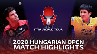 Дмитрий Овчаров vs Tomokazu Harimoto | Hungarian Open 2020 (1/2)