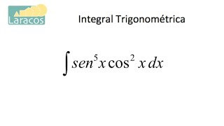 Integral trogonométrica (seno quinto coseno cuadrado)
