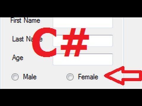 C# Tutorial 22: Checkbox , radiobutton and groupbox with Database in C#
