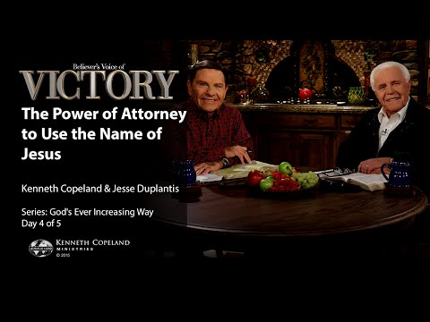 The Power of Attorney to Use the Name of Jesus