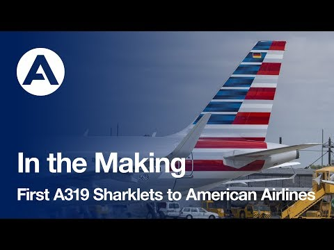 First A319 with Sharklets handed over to American Airlines