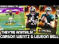 Download 99 Ovr Team! Carson Wentz & Leveon Bell Are Animal