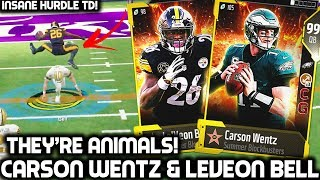 99 OVR TEAM! CARSON WENTZ & LEVEON BELL ARE ANIMALS! Madden 18 Ultimate Team