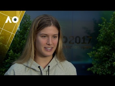 Eugenie Bouchard post-match interview (2R) | Australian Open 2017