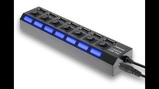 Review 7-Port High Speed USB 2 0 Hub W Individual Power Switches and LEDs