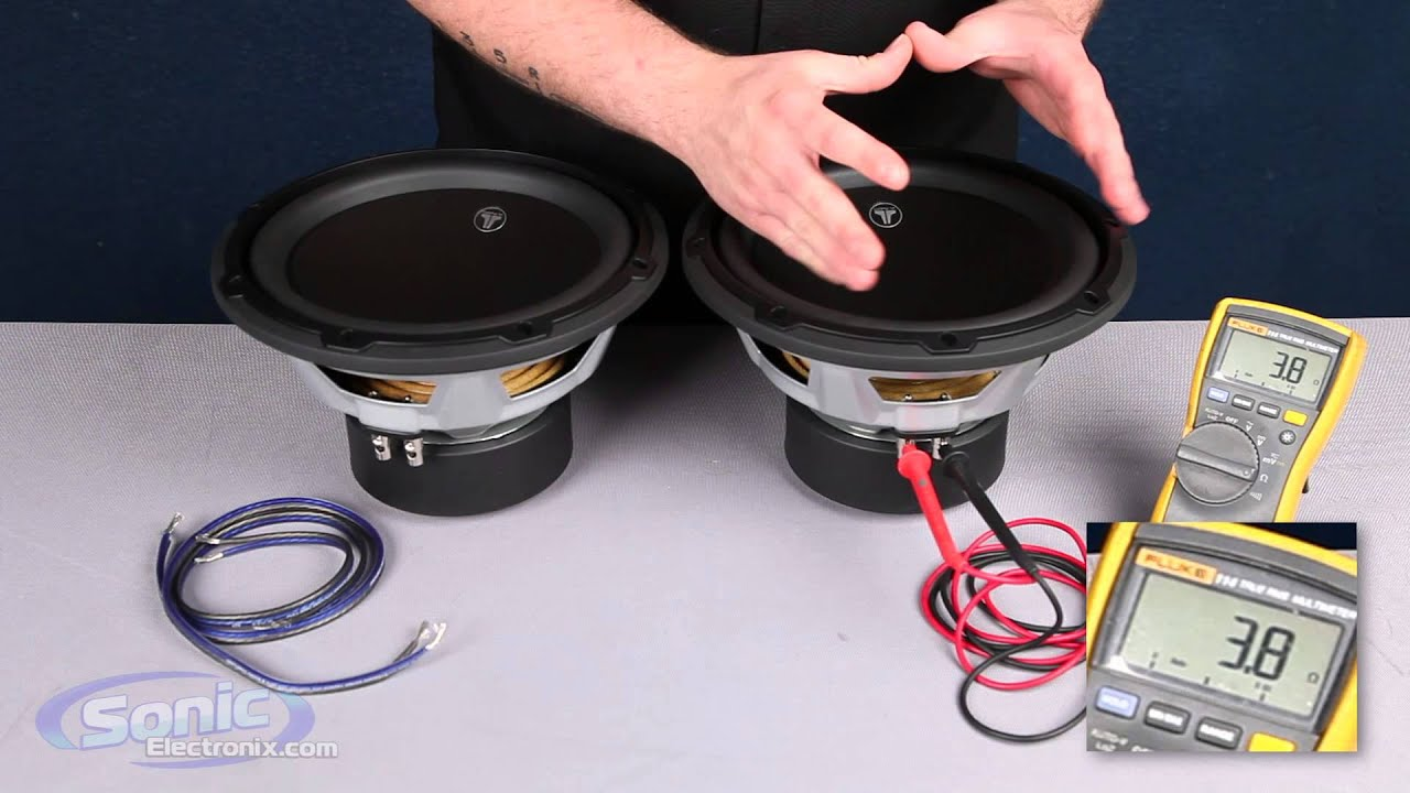 How to Wire Two Single 4 ohm Subwoofers to a 2 ohm Final Impedance | Car Audio 101  YouTube