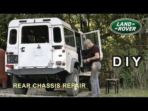Land Rover 110 Chassis, Rear Cross Member DIY