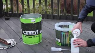 Fibreglass Roofing - Mixing The Resin - Hardener