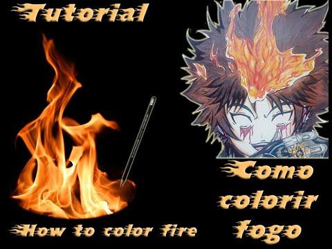 Tutorial Tecnica De Como Colorir Fogo How To Paint Fire Feat