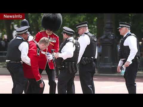 Два гвардейца королевской армии в Лондоне упали в обморок от жары [НОВОСТИ]