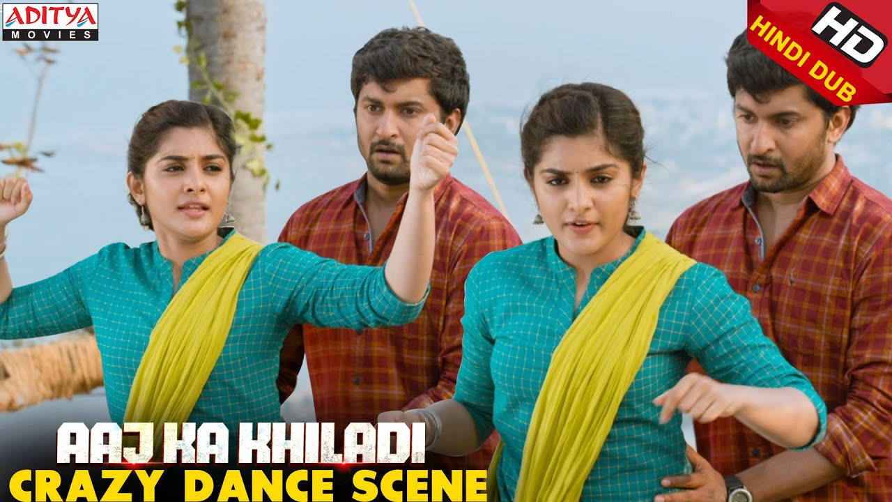 Download Nani & NivethaThomas Crazy Dance Scene || Aaj Ka Khiladi Latest Hindi Dubbed Movie || Aditya Movies