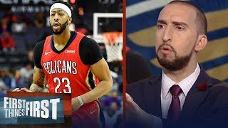 Nick Wright on reported Anthony Davis trade rumors | FIRST THINGS FIRST