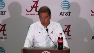 Watch Coach Saban's Postgame Press Conference LIVE following Alabama's 39-10 win over Missouri