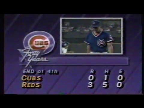 1988 MLB: Cubs at Reds 8/18/1988