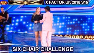 Shan vs Georgia Burgess Forced Simon Give Her a Sing Off   Six Chair Challenge X Factor UK 2018