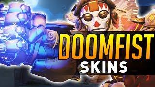 Overwatch   All Doomfist Skins, Emotes, Highlight Intros, Voice Lines