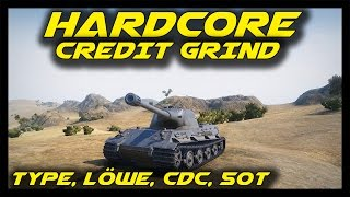 ► World of Tanks: Hardcore Credit Grind! - Type 59, FCM 50T, AMX CDC, Löwe Gameplay