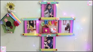 Easy Photo Frame with Popsicle Stick / DIY Photo Frame with ice cream sticks / Room Decor