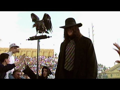 The Undertaker makes an ominous entrance at WrestleMania IX