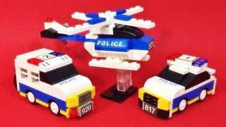 옥스포드 미니월드 경찰차 헬리콥터 레고 호환 블럭 조립 리뷰 Oxford mini world ploice mw3311