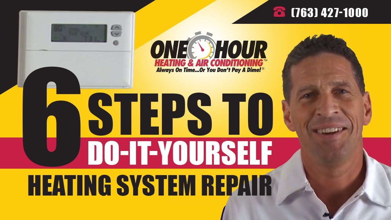 Heating Repair Do It Yourself 6 Steps To System Heat Only Furnace Wiring Northerns One Hour