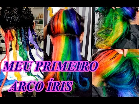 Cabelo ARCO ÍRIS  Escondido  Rainbow Hair