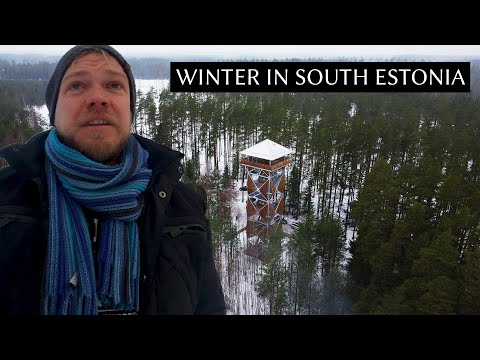 5 days hiking and winter camping in South Estonia