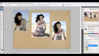 photoshop tutorial - demi lovato on the beach