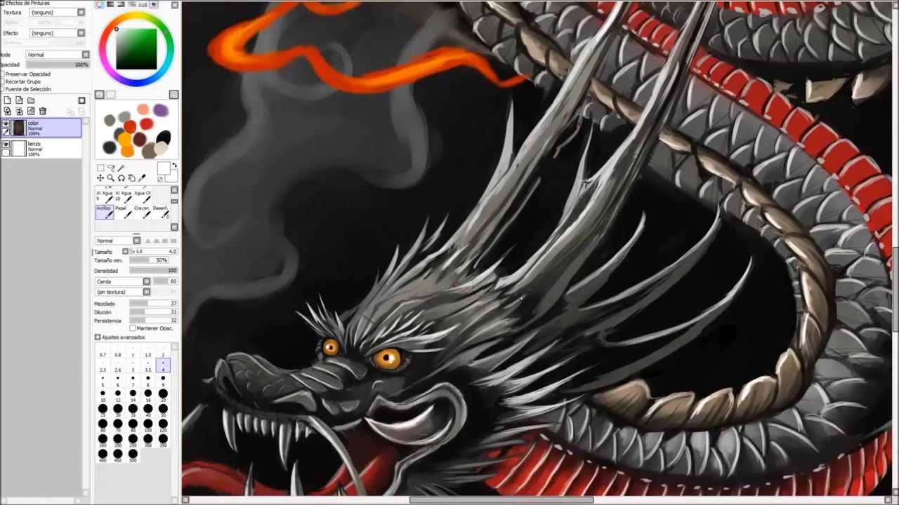 Japanese Dragon Speed Painting  YouTube