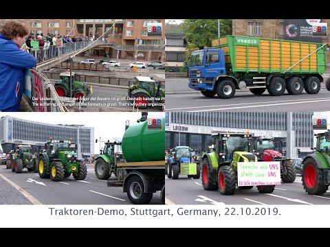 Traktoren-Demo, Farmer's Protest / Bauernproteste Stuttgart, Germany, 22.10.2019.