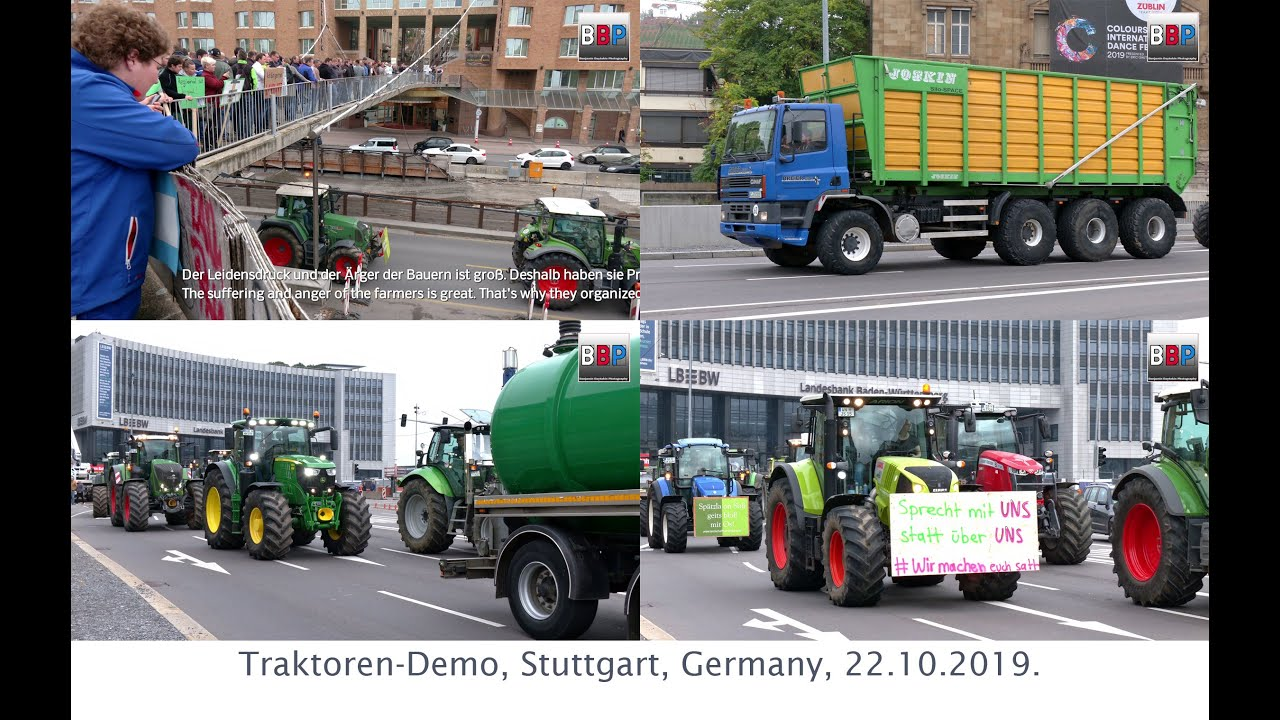 Download Traktoren-Demo, Farmer's Protest / Bauernproteste Stuttgart, Germany, 22.10.2019.